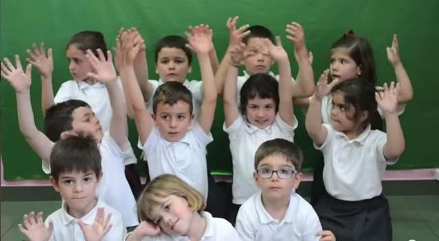 Alumnos de infantil del colegio Atlántida.