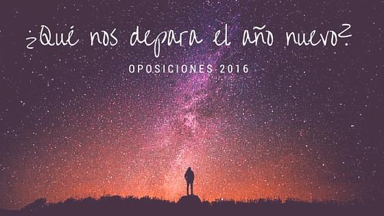 Oferta oposiciones 2016