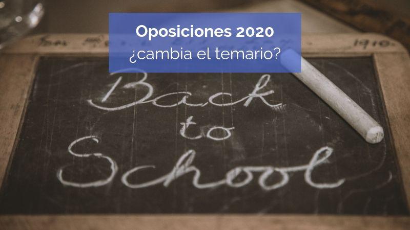 Información oposiciones 2020