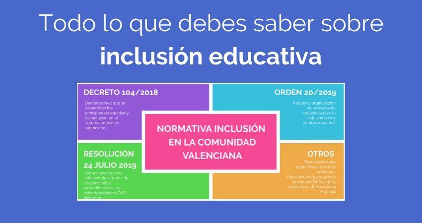 Principales conceptos de inclusión educativa
