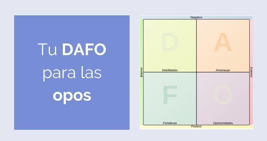 Haz tu DAFO para las oposiciones