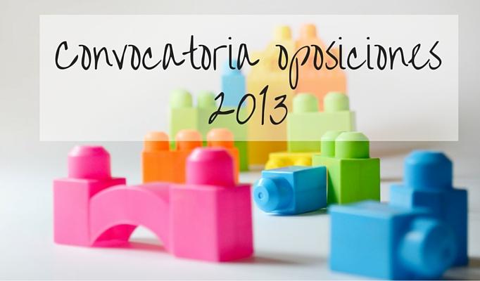Convocatoria Oposiciones 2013 a maestros Comunidad Valenciana