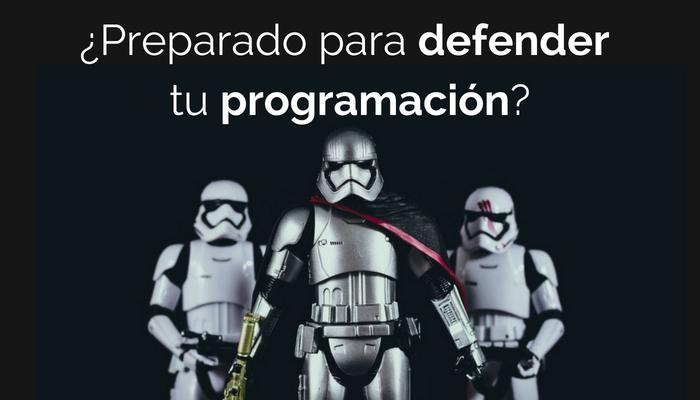 Defender la programación con éxito