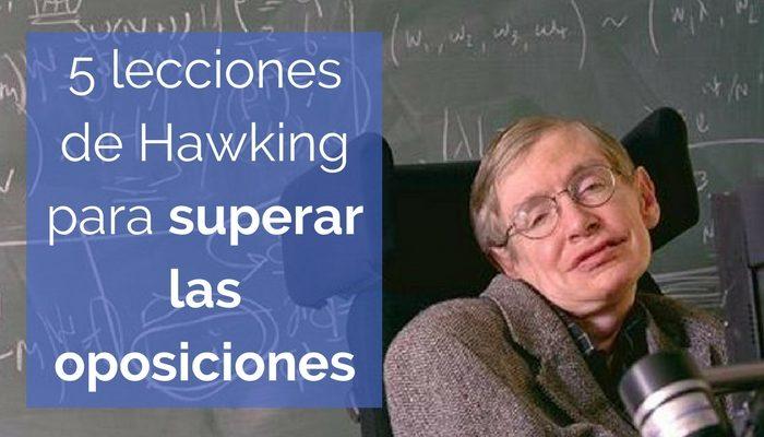 Superar las oposiciones aprendiendo de Stephen Hawking