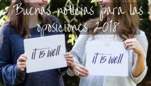 ¿Empezamos a preparar las oposiciones 2018?
