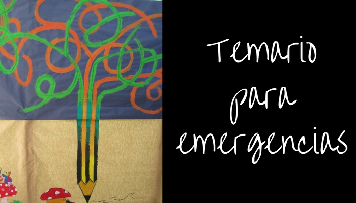 Temario para emergencias